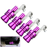 Purple Aluminum Turbo Sound Whistle Exhaust Muffler Simulator Pipe Blow-Off Valve S/M/L/XL