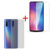 Bakeey Anti-Explosion Tempered Glass Screen Protector+3D Soft Carbon Fiber Back Cover Protector For Xiaomi Mi9 / Xiaomi Mi 9 Transparent Edition Non-original