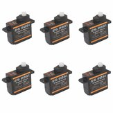 6 STKS Emax ES9051 4.3g Digitale Mini Servo Voor RC Model