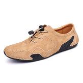 Menico heren lederen handstiksels Soft Casual schoenen