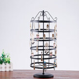 288 Holes 6-tiers Rotating Iron Jewelry Rack Earrings Rings Display Stand Holder Tools Kit