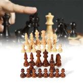 32 Peça Xadrez Esculpida Em Madeira 10,5 cm Rei Chessman Conjunto Artesanal Conjunto de Brinquedo de Entretenimento Ao Ar Livre