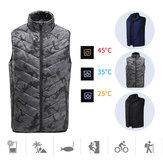 Chaleco de calor eléctrico Ropa Chaleco cálido Hombres Chaqueta de abrigo de calefacción para ciclismo de esquí