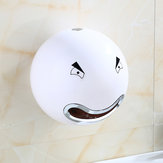 Wall Mounted Cute Cartoon Face Bathroom Toilet Paper Tissue Box Roll Holder