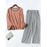 Uzun Kollu Loungewear Gündelik 2 Parçalı