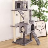 XS13-5001 Pet Cats Tree House with Hanging Ball Cat Toys Scratch Solid Woods for Cats Climbing Frame Cat Condos From
