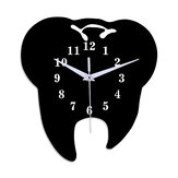 Emoyo ECY056 Tooth Shape Wall Clock Quartz Wall Clock 3D Wall Clock For Home Office Decorations