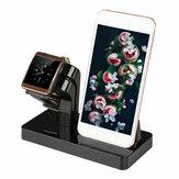 2 em 1 Multifuncional em liga de alumínio Dock Charger Stand Holder Desktop Mount para iPhone iWatch