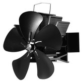 5 Blade Heat Self-Power Stove Fan Wall Mounted Magnetic Fireplace Eco Fan