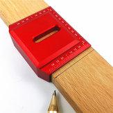 Aleación de aluminio 2-1 / 2 Inch Sillín de 90 grados Cuadrado en forma de L Regla de marcado en ángulo recto Regla de trabajo de madera Regla de posicionamiento Regla de medición