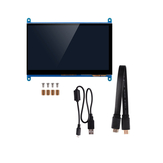 7 Pollici Visualizzazione completa LCD IPS Touchscreen 1024 * 600 800 * 480 HD HDMI Display Monitor per Raspberry Pi