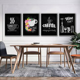 Unframed Canvas Coffee Paintings Bar Cafe Kitchen Wall Decoration Poster Frameless Decorations