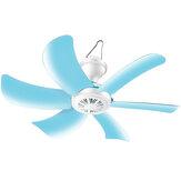 220 V 6 łopatek Mini elektryczny wiszący wentylator sufitowy Niski poziom hałasu Rozrządu Wentylator chłodzący z okablowaniem