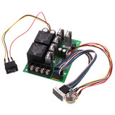 PWM DC Motor Governor 10V-55V 12V 24V 36V 48V 40A Motor Speed Control Module Controller with Display