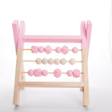 Natural Pine Nordic Baby Room Decor Wooden Abacus Educational Nursery Props Toys