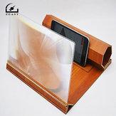 Amplificazione stereoscopica 12 Pollici Staffa di legno da tavolo Supporto per telefono con amplificatore per schermo video per telefono cellulare