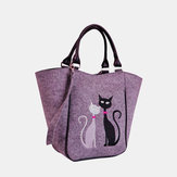 Women Large Capacity Cat Pattern Tote Bag Handbag