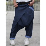 Women Casual Denim Harem Pants