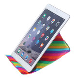 Stampa arcobaleno Colorful Tablet portatile universale Cuscino in tela Cuscino Telefono cellulare Lettura desktop Stand Holder per iPad Xiaomi per iPhone