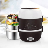Rice Cooker Listrik Stainless Steel 3 Lapisan Steamer Warmer Heating Lunch Box