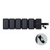 IPRee® Poratble 8W 5 Складная USB аккумуляторная Солнечная Панель Mobile Power На открытом воздухе Traveling Кемпинг Аварийное зарядное устройство