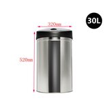 Round Sensor Rubbish Bin Stainless Trash Bin Waste Bins 30L/40L/50L/60L