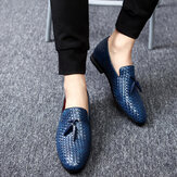Oxfords en cuir véritable à motif serpent en cuir véritable