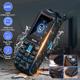 KUH 2.6'' 13800mah Torch Big Speaker Big Screen Mobile Phones Long Standby Feature Phone
