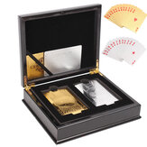 1 Juego de cartas Noble Classic 2 $ 100 Gold & Silver Playing Cards Regular Poker Deck coleccionable Caja