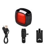 60 lumens 16 COB inteligente Sensor luz 10h tempo de execução 5 modos USB recarregável 90 ° ajustável IPX6 impermeável ao ar livre ciclismo bicicleta luz traseira