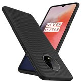 Bakeey Carbon Fiber Texture Slim Soft TPU Shockproof Protective Case for OnePlus 7T 6.55 inch