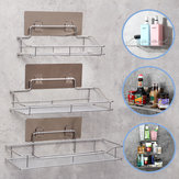 Stainless Steel Bathroom Wall Shelf Suction Cup Holder Corner Storage Rack Organizer