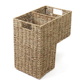 2 compartimentos de vime Handwoven Stair Stairs Basket Storage