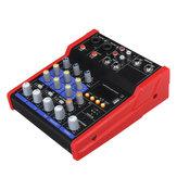 4 قنوات خط المهنية خلط لايف صوت ستوديو الصوت خلاط وحدة التحكم 48V