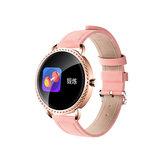 Bakeey H7 Hartslag Bloeddruk Zuurstofmonitor Mode Dames Kristal Smartwatch