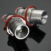 10W LEDエンジェルアイハローリングライト電球CANBUSエラーフリーペアBMW E65 E66 E67 E39 E63 E64