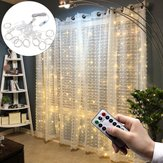 3 * 1M USB 8-tilstande 100 LED gardinstrenglys med 10 kroge Festival Decor Fairy Lamp Christmas Wedding