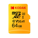 KODAK Micro SD Memory TF Flash بطاقة 64GB 128GB U3 A1 V30 Micro SDHC بطاقة SDXC بطاقة for فيديو and Mobile Storage