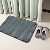 Coral Fleece Memory Foam Mats Bathroom Absorbent Non-slip Shower Rugs Carpet
