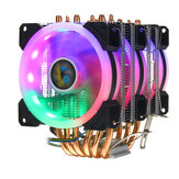CPU Cooler 6 Heatpipe 4 Pin RGB Ventola di raffreddamento per Intel 775/1150/1151/1155/1156/1366 AMD