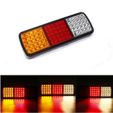 12V 75 LED Rear Tail Lights Brake Reverse Lamp Red+Yellow+White Waterproof For Truck Ute Boat Trailer