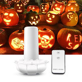 Fernbedienung Batterie Powered 2 Modi Lotus Flower 102LED Flackerndes, flammenloses Halloween-Kerzen-Nachtlicht