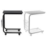 C على شكل أريكة طاولة جانبية طاولة كمبيوتر محمول مكتب دراسة رفوف تخزين أرفف المنظمون زخارف قابلة للإزالة رف