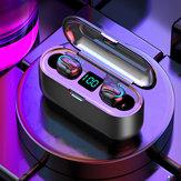 TWSワイヤレスステレオHifiイヤホンデュアルLEDディスプレイゲーミングヘッドフォン防水2000mAh電源銀行