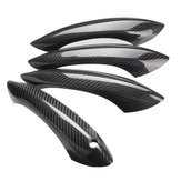 4PCS Real Carbon Fiber Door Handle Cover without LED Sensor Type For BMW F07 F10 F11 520i 528i 535i M5