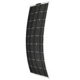 100W 18V 1180 * 540 * 3 mm Cableado delantero Semi-flexible Monocristalino PET Solar Panel con MC4 Conector