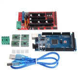 Geekcreit RAMPS 1.4 مراقبة Board + MEGA2560 R3 + A4988 Driver with Heat Sink 3D Printer Mainboard Kit