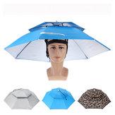 ZANLURE Katlanabilir Çift Katmanlı Güneş geçirmez Balıkçılık Şemsiye Şapka Outdoor Kampçılık Yürüyüş Golf Şemsiye Şapkalar Kap