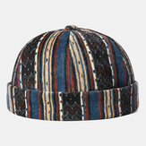 Corduroy Brimless Skull Cap Stripe Multicolor Custom Hat