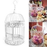 White Iron Birdcage Bird Cage Hochzeit Mittelstücke Hängende Blumen Dekorationen